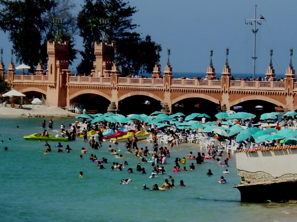 Beach inside Montazah Palace