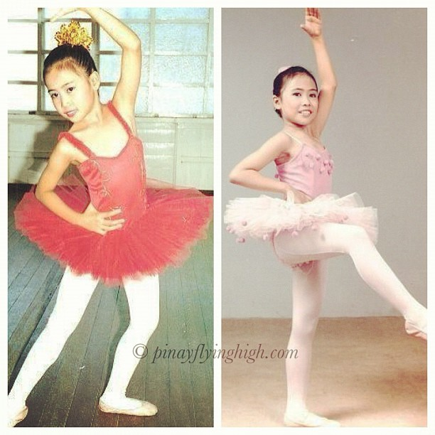 Me when I was about 6 to 7 years of age, my first and second recital.