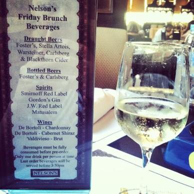 Nelson's Friday Brunch Beverage List