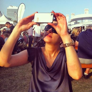 Nada trying to take a photo of the.... sun?