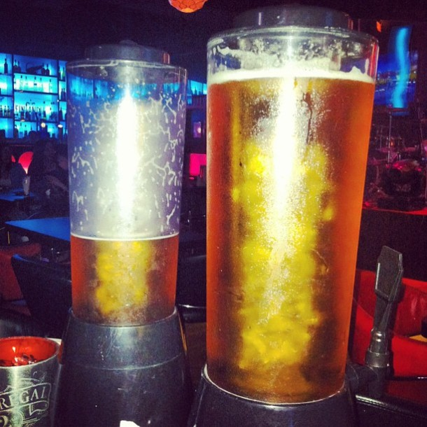 Two towers of beer