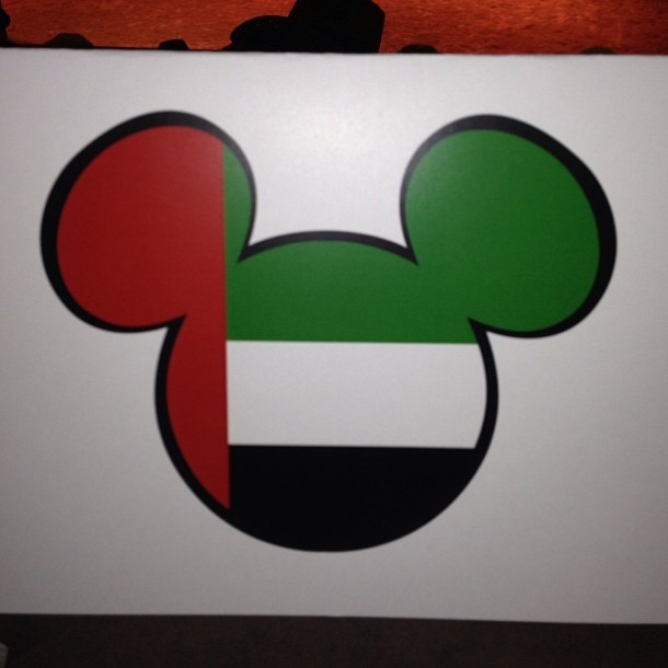 Mickey's gone Emirati for a night.