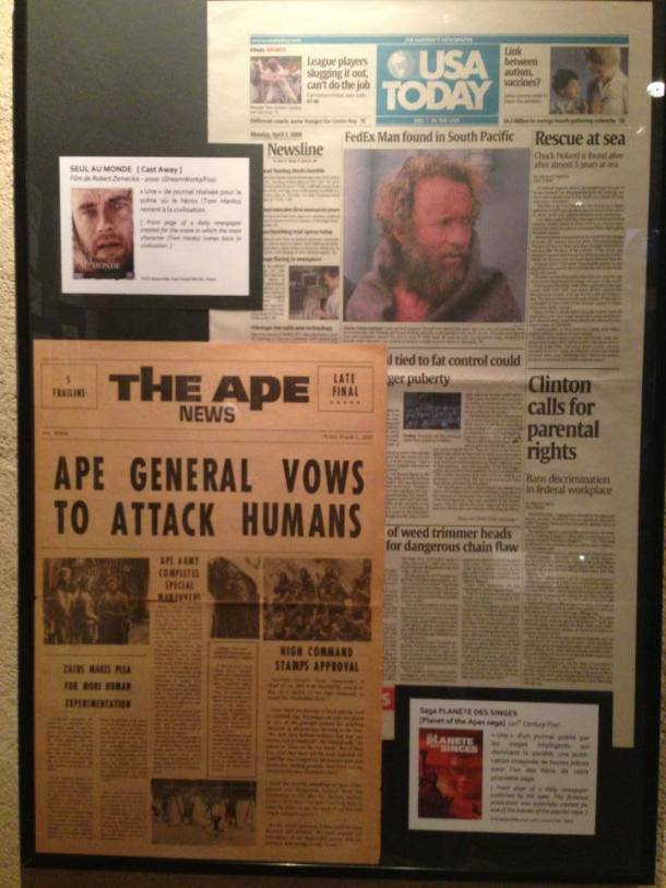 Some of the newspapers used in a movie. :)