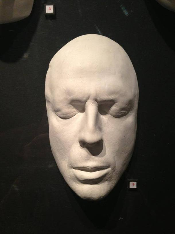 In order to create prosthetic make-up or mask, artists need the actor's face to start working. This is the lifecast of an actor, guess who. :)