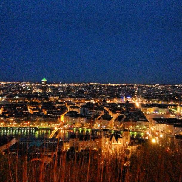 The view of Lyon from the Fourviere, the photo doesn't justify the loveliness of it.