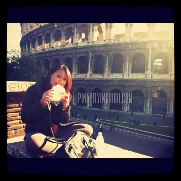 And after your tiring exploration of the Colosseum, have a pizza in front of it just like what I did. :)