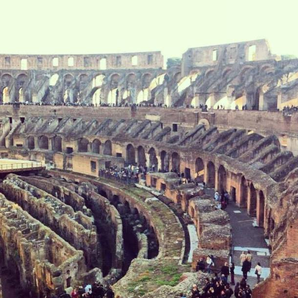 The Colosseum can accommodate 87,000 people at once - which makes it the largest ampitheatre of the Roman Empire.