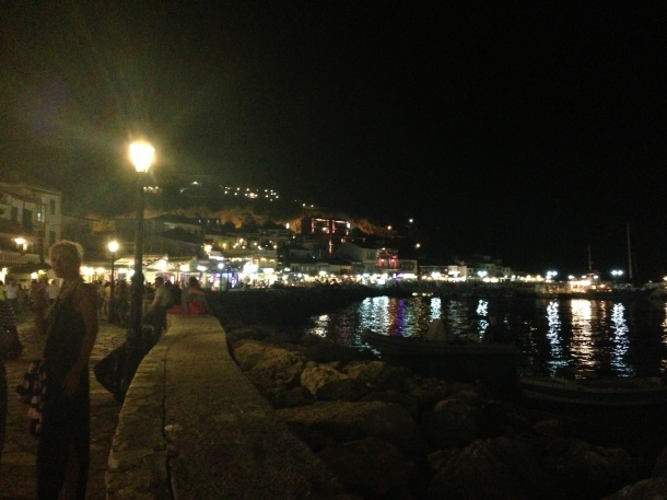 Parga at night