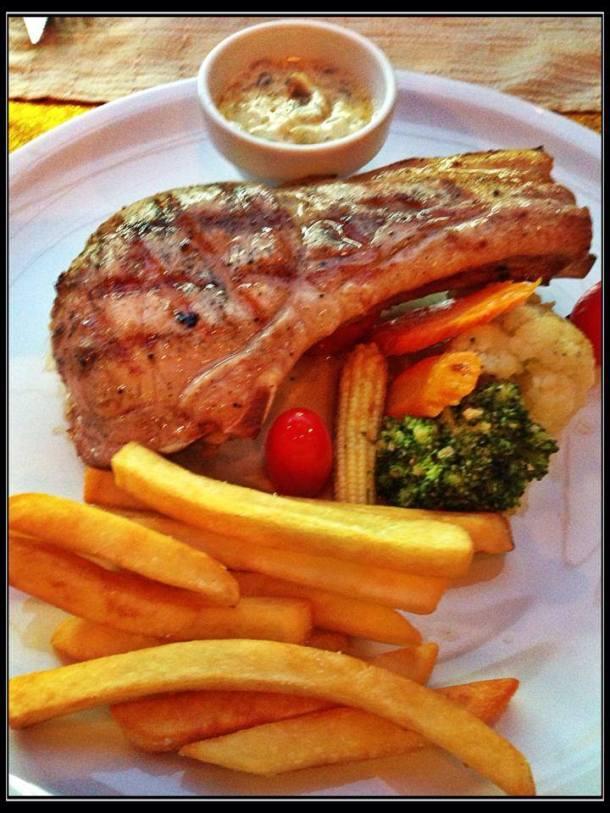 Pork Chops at Aning Restaurant