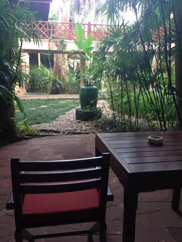 Our garden view balcony.