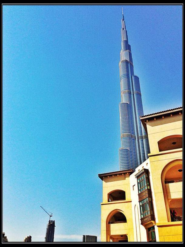 The mighty Burj Khalifa.