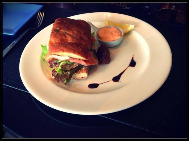 THB490 Salmon Focaccia Sandwich