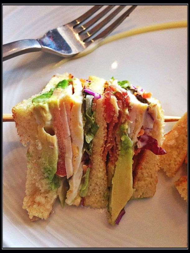 Closer look of my club sandwich, let me know if you see any gold in it. :p
